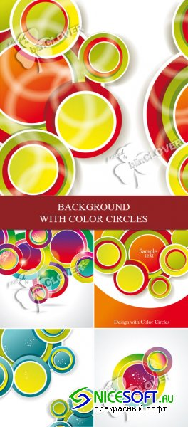 Background with color circles 0102