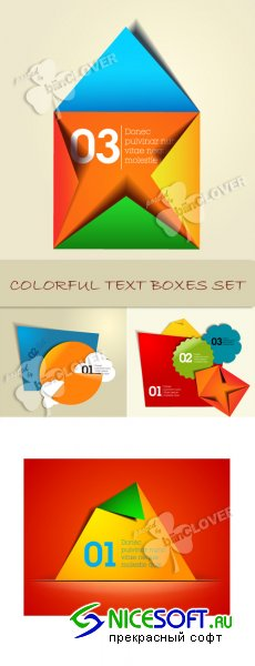 Colorful text boxes set 0104