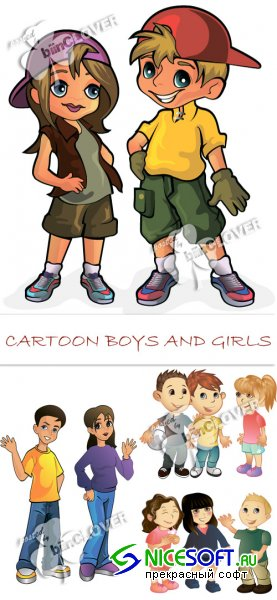 Cartoon boys and girls 0105