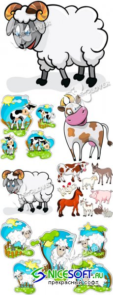 Farm cartoon animals 0105