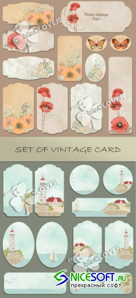 Set of vintage cards 0105
