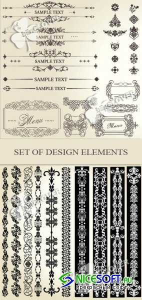 Set of design elements 0121