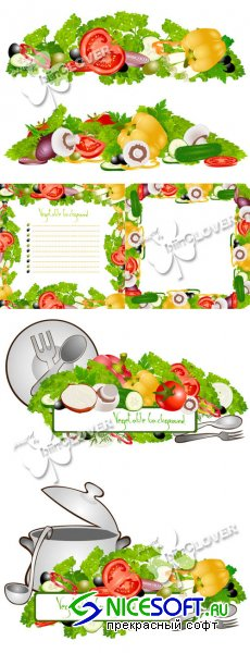 Vegetable frame and border 0147