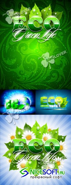 Eco green background 0162