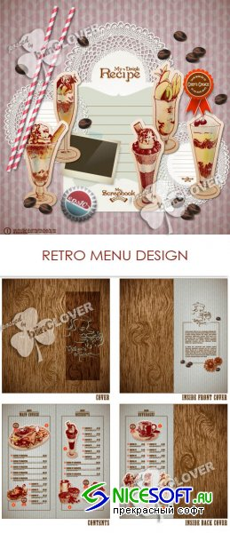 Retro menu design 0173
