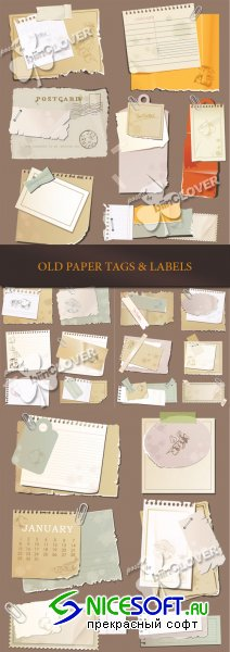 Old paper tags and labels 0173