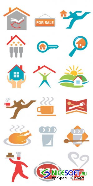 Real Estate and Restaurant - Logo Vector Set #70