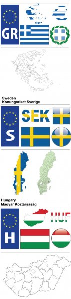 Sweden, Greece and Hungary - State Symbolics #10