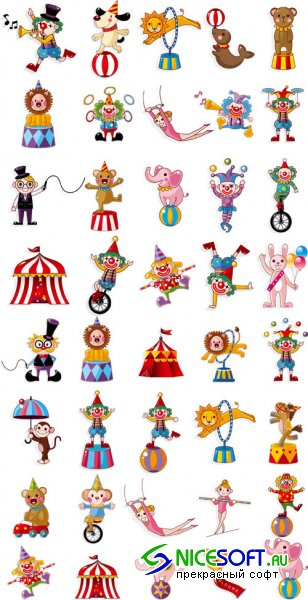 Circus Big Vector Pack EPS