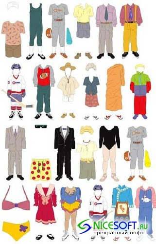 Costumes Vector Clipart