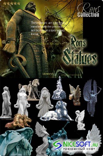 Rons Collection - PSD Layer - Statues