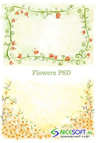 Flower PSD Template 9