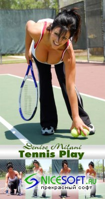 Denise Milani - Tennis Play
