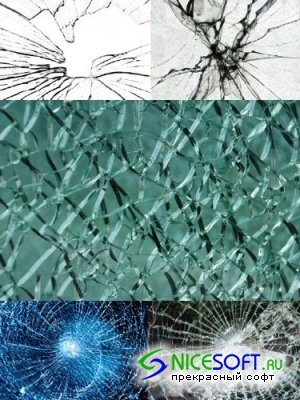 Glass cracks