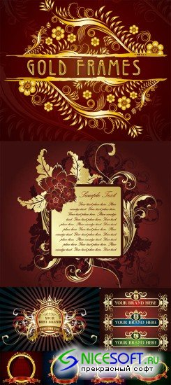 Golden Background Frames