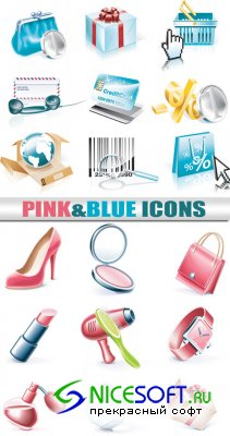 Blue & pink icons