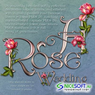 Rose Wedding Decorative Alphabet