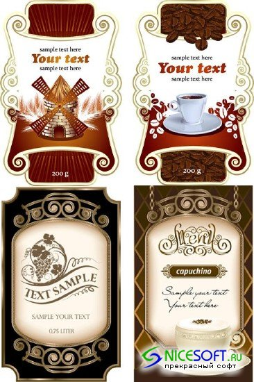 Coffee and Wine Labels