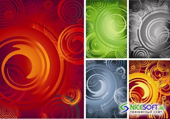 Five Abstract Backgrounds
