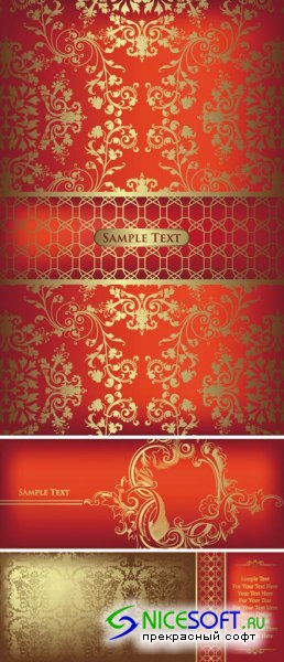 Golden Red Backgrounds