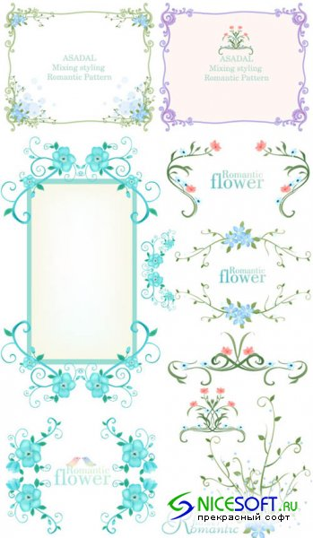 Beautiful Flower Frames