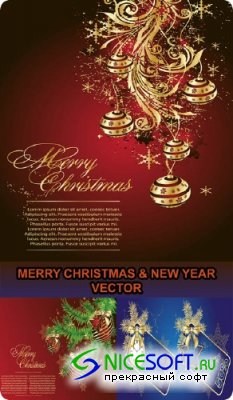 MERRY CHRISTMAS & NEW YEAR VECTOR
