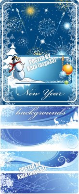 Winter blue backgrounds