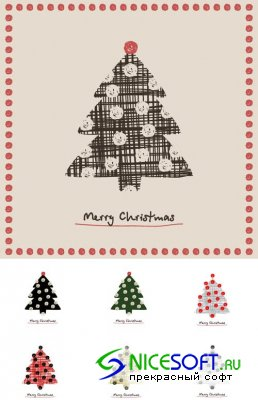 Christmas Tree Vector Mix 7