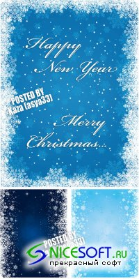 Blue winter backgrounds 4