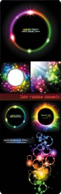 Color rainbow elements Vector