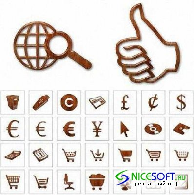 Wooden Icons: Business