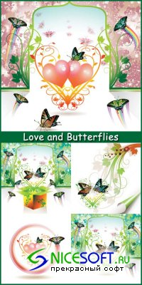 Love and Butterflies - Stock Vectors
