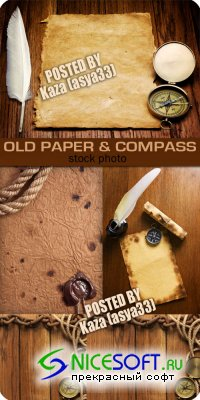 Old paper & compass