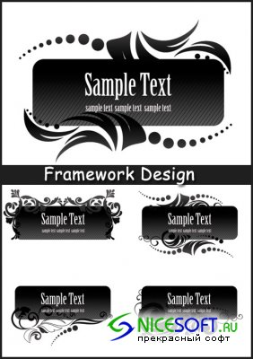 Framework Design - Stock Vectors