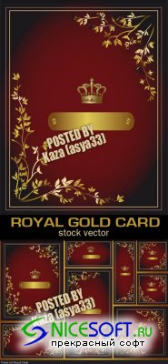 Royal gold cards