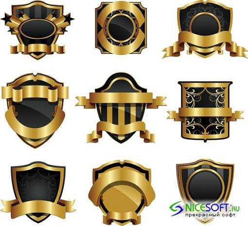 Gold Vector Label