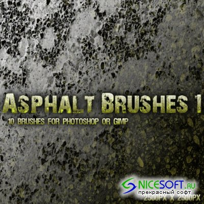 Asphalt Brushes Pack for Photoshop or Gimp