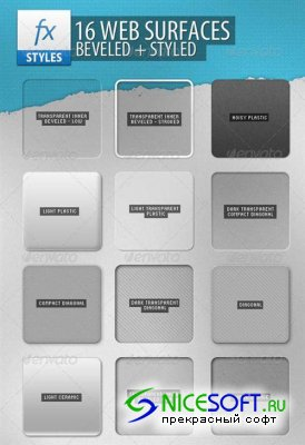 GraphicRiver - 16 Resizable Web Surfaces