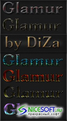 Glamur Styles for Photoshop