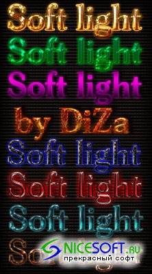 Soft Light Styles for Photoshop