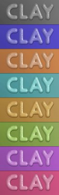 Clay Layer Styles Pack for Photoshop