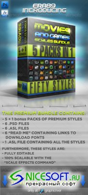 GraphicRiver - Movies & Games Styles Premium BUNDLE