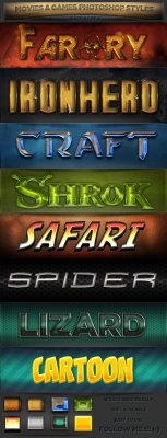GraphicRiver - Movies & Games Styles 1 of 4