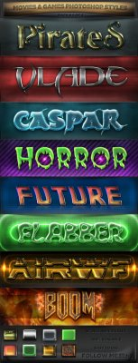 GraphicRiver - Movies & Games Styles 2 of 4
