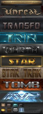 GraphicRiver - Movies & Games Styles 3 of 4