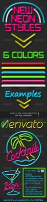 GraphicRiver - New Neon Styles