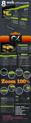 GraphicRiver - 8 Web Elements