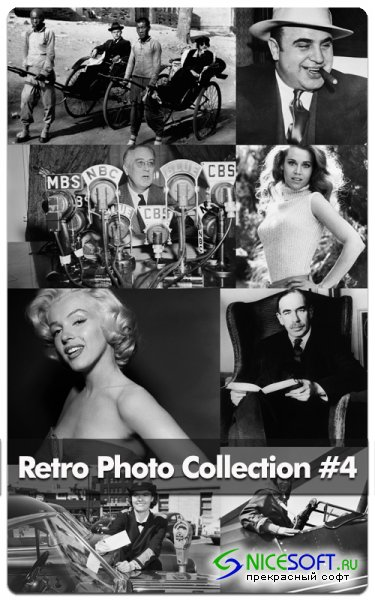 Retro Photo - Black & White Photo Sets #4