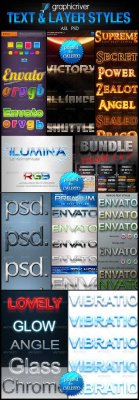 GraphicRiver - Text & Layer Styles Pack Collection