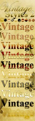 GraphicRiver -  Vintage Photoshop Styles 2